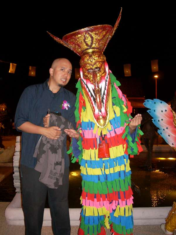 Phi Ta Khon Costume to Scare the Spirits